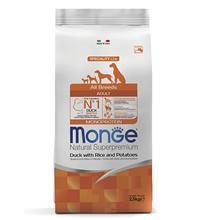 Monge Dog Speciality Adult Duck & Rice / Сухой корм Монж Спешиалити для взрослых собак всех пород Утка с рисом и картофелем