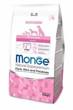 Monge Dog Speciality Adult Pork & Rice / Сухой корм Монж Спешиалити для взрослых собак всех пород Свинина с рисом и картофелем