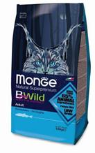Monge Cat BWild Adult Anchovies / Сухой корм Монж Бивайлд для Взрослых кошек Анчоусы