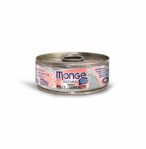 Monge Cat Natural / Консервы Монж Натурал для кошек Тунец с курицей и креветками (цена за упаковку)