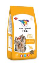 Счастливый Пес Сухой корм для собак Мелких пород от 1 года до 7 лет с Ягненком и рисом