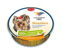 Счастливый Пес Консервы для собак Паштет Индейка Цена за упаковку