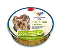 Счастливый Пес Консервы для собак Паштет Ягненок с Рисом Цена за упаковку