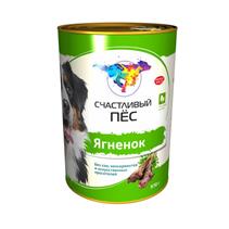 Заказать Счастливый Пес Консервы для Взрослых собак Ягненок Цена за упаковку по цене 2300 руб