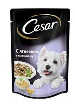 Заказать Cesar / Паучи для собак Ягненок в сырном соусе Цена за упаковку по цене 690 руб