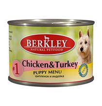 Berkley №1 Puppy Chicken & Turkey / Консервы Беркли для Щенков Цыпленок и Индейка (цена за упаковку)