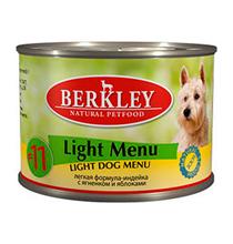 Berkley №11 Adult Light Menu / Консервы Беркли для собак Индейка с Ягненком и яблоками Низкокалорийный (цена за упаковку)