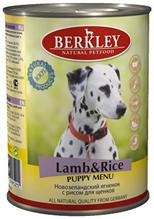 Berkley Puppy Lamb & Rice / Консервы Беркли для Щенков Ягненок с рисом (цена за упаковку)