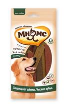 Мнямс Лакомство для собак Мясные полоски Ассорти Защищает дёсны Чистит зубы