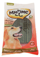 Заказать Мнямс Лакомство для собак Зубные палочки 12 см с Эвкалиптом по цене 90 руб