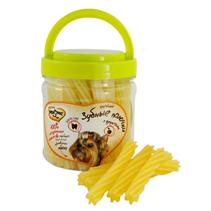 Заказать Мнямс Лакомство для собак Крученые зубные палочки с Фруктами по цене 430 руб