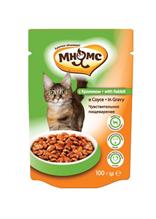 Мнямс Влажный корм Паучи для кошек Чувствительное пищеварение Кролик в соусе (цена за упаковку)