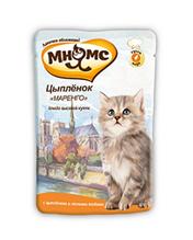 Мнямс Влажный корм Паучи для Котят Цыпленок Маренго (цена за упаковку)