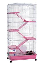 Заказать Kredo / Клетка Кредо для Хорьков с пластмассовым поддоном Трехэтажная по цене 10720 руб