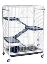 Заказать Kredo / Клетка Кредо для Шиншил на колесах c выдвижным поддоном Трехэтажная по цене 6660 руб