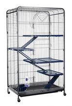 Заказать Kredo / Клетка Кредо для Шиншил на колесах c выдвижным поддоном Четырехэтажная по цене 11320 руб