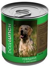 Dog Lunch / Консервы для взрослых собак ДогЛанч Говядина с Овощами