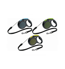 Заказать Flexi Design M / рулетка черная для собак весом до 20 кг Трос 5 м Черная по цене 950 руб