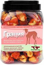 Green Qzin Грация 2 / Лакомство Грин Кьюзин для собак сушеное Куриное мясо на яблоке
