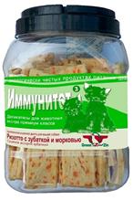 Green Qzin Иммунитет 3 / Лакомство Грин Кьюзин для собак сушеная Зубатка с морковью