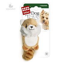 GiGwi Dog Toys / Игрушка Гигви для собак Лисичка с пищалкой без набивки