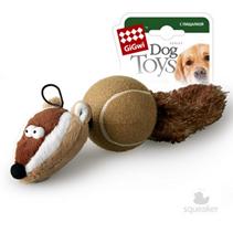 GiGwi Dog Toys / Игрушка Гигви для собак Барсук с 2-мя пищалками
