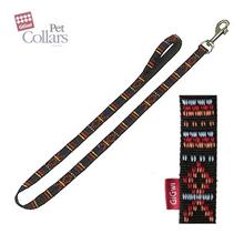 GiGwi Pet Collars / Поводок Гигви для больших собак нейлон Черный с орнаментом