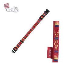 Заказать GiGwi Pet Collars / Ошейник для маленьких собак нейлон размер S Красный с орнаментом по цене 230 руб