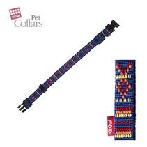 Заказать GiGwi Pet Collars / Ошейник для средних собак нейлон размер L Синий с орнаментом по цене 340 руб