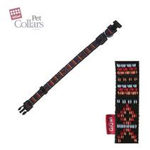 Заказать GiGwi Pet Collars / Ошейник для больших собак нейлон размер XL Черный с орнаментом по цене 440 руб