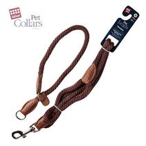 Заказать GiGwi Pet Leads / Поводок с Петлей для средних собак Синий нейлон & черная кожа по цене 850 руб