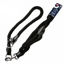 Заказать GiGwi Pet Leads / Поводок с Петлей для больших собак Черный нейлон & черная кожа по цене 960 руб