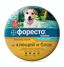 Bayer Форесто / Ошейник от Клещей, Блох и Вшей для собак менее 8 кг
