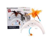 GiGwi Cat PetDroid Feather Spinner / Интерактивная игрушка Гигви для кошек с датчиком движения