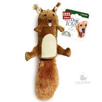 GiGwi Dog Toys / Игрушка Гигви для собак Белка с большой пищалкой