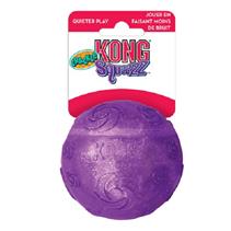 Kong Squezz Crackle / Игрушка Конг для собак Хрустящий мячик Большой