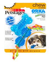 Petstages Orka / Набор 2 игрушки Ультра-Мини Косточка+Гантеля