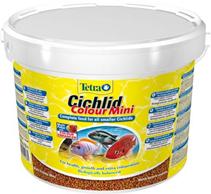 TetraCichlid Colour Mini / корм для всех видов цихлид для улучшения окраса 10 л (ведро)
