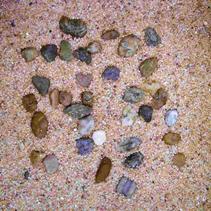 H2SHOW / грунт натуральный крупный песок + галька 5 кг