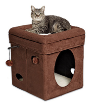 MidWest Currious Cat Cube / Домик-лежанка Мидвест для кошек Складной