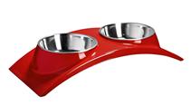"""Заказать SuperDesign / миска двойная на меламиновой подставке """"Элеганс"""" 2 х 160 мл красная по цене 580 руб"""