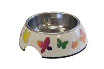 SuperDesign / Миска Супер Дизайн на меламиновой подставке Бабочки