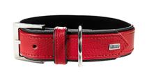 Hunter Capri / ошейник для собак натуральная кожа Красно-Черный