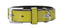 Hunter Capri / ошейник для собак натуральная кожа Лайм-Черный