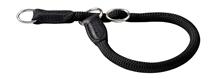 Hunter Freestyle / ошейник-удавка для собак круглый нейлон Черный