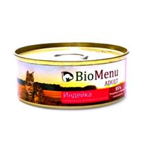 BioMenu Adult / Консервы для Кошек мясной паштет с Индейкой