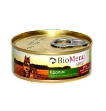 BioMenu Adult / Консервы для Кошек мясной паштет с Кроликом
