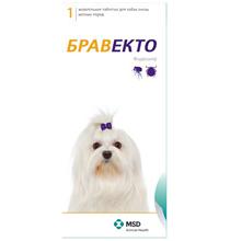 MSD Intervet Bravecto / Жевательная таблетка Бравекто от Блох и Клещей для собак весом 2 - 4,5 кг