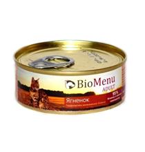 BioMenu Adult / Консервы для Кошек мясной паштет с Ягненком