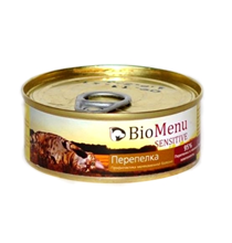 BioMenu Sensitive / Консервы для Кошек мясной паштет с Перепелкой
